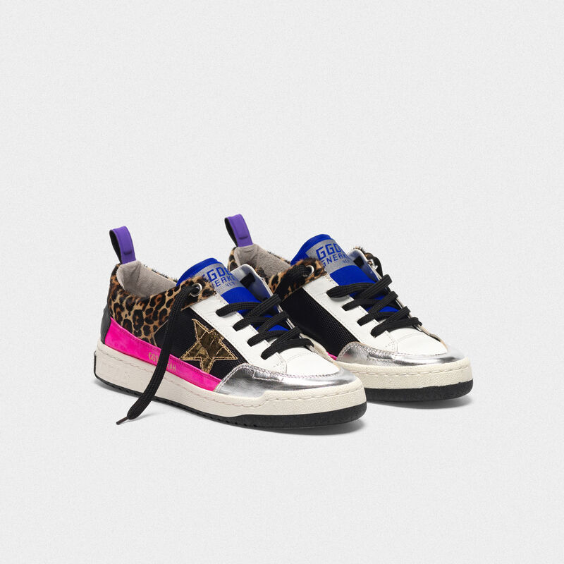 Golden Goose - Yeah! sneakers in leopard-print pony skin with a gold star   in  image number null