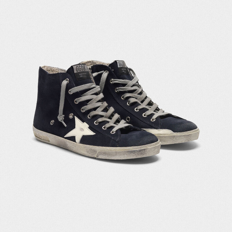 Golden Goose - Francy sneakers in leather with leather star and heel tab in  image number null