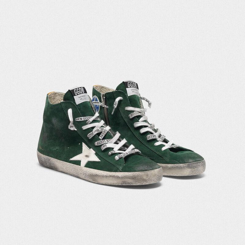 Golden Goose - Sneakers Francy verdi in suede con stella bianca in  image number null