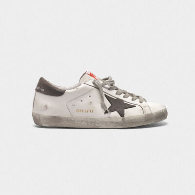 Superstar sneakers in leather with star and heel tab in nubuck