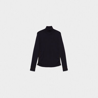 Kuroyuri turtleneck sweater in extrafine merino wool