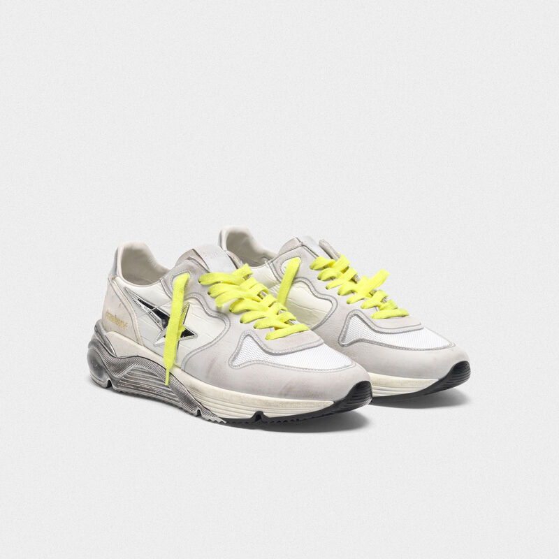 Golden Goose - Patchwork shades Running Sole sneakers with silver star in  image number null