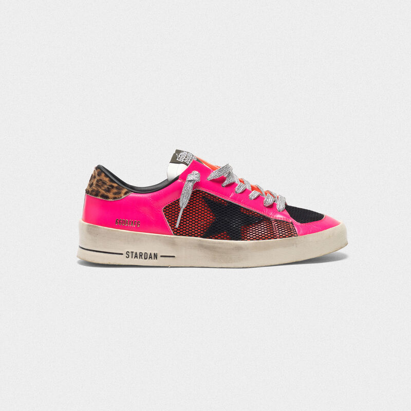 Golden Goose - Sneakers Stardan fluo patchwork con talloncino leopardato in  image number null