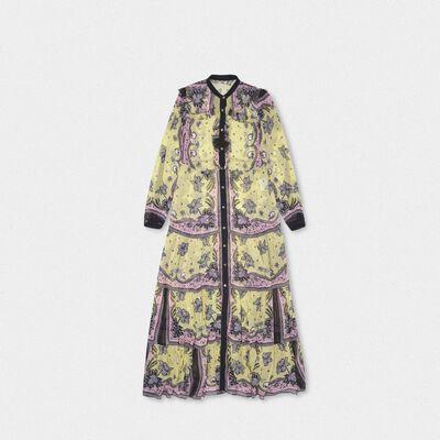 Ella dress in georgette with floral print