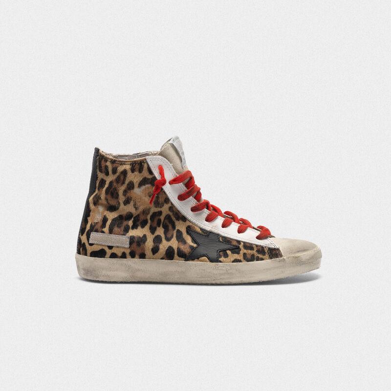 Golden Goose - Zapatillas deportivas Francy de piel de potro con motivo leopardo   in  image number null