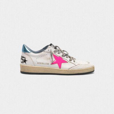 Sneakers Ball Star con stella fuxia e talloncino azzurro