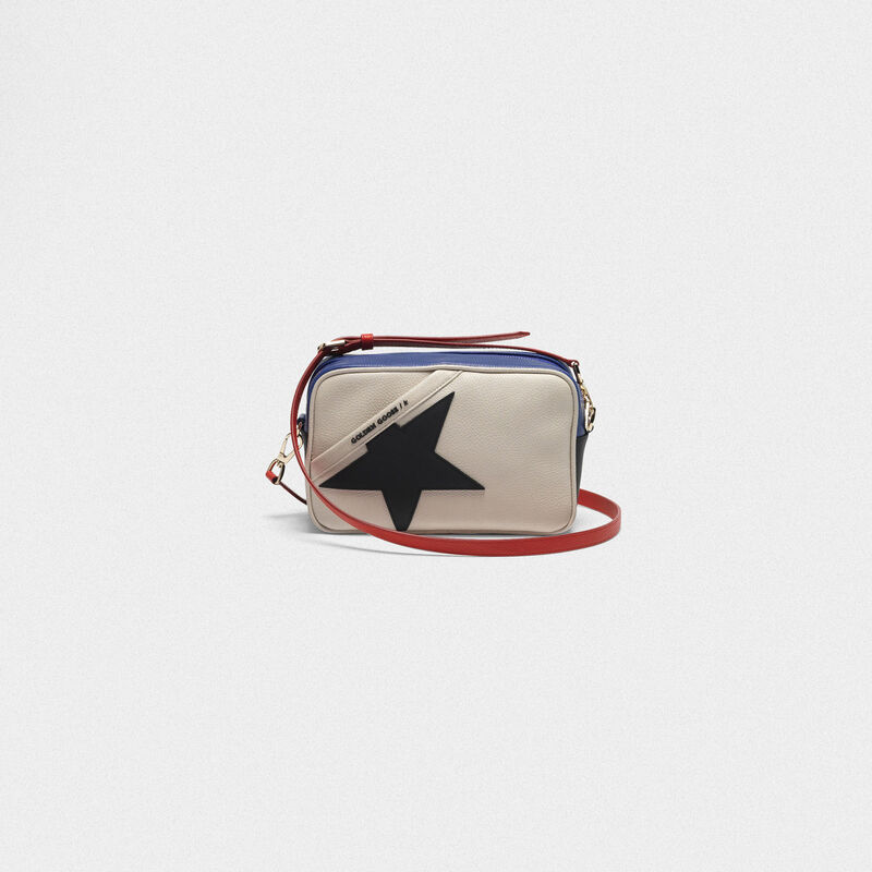 Golden Goose - Star Bag made of pebbled leather with black star in  image number null