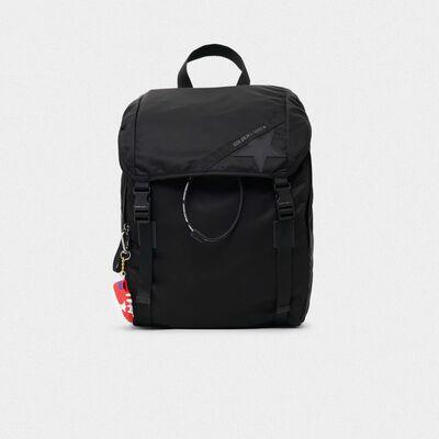 Black nylon Journey backpack