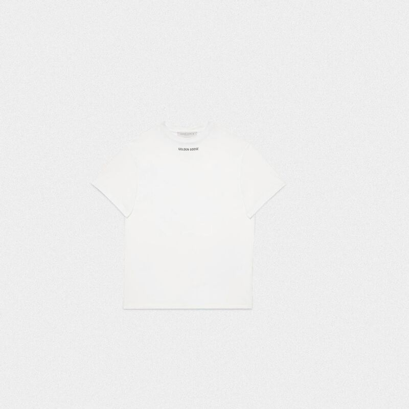 Golden Goose - White Golden T-shirt with print on the back in  image number null