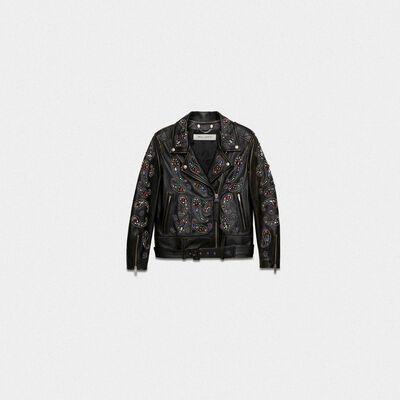 Victoria biker jacket in mustang nappa leather