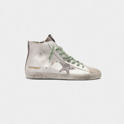 Francy sneakers in leather with glittery GGDB star