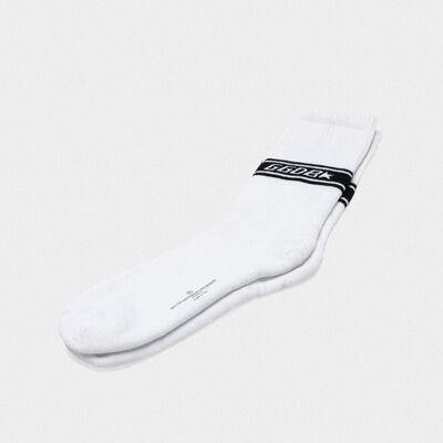 Short Hideki terry socks with jacquard logo