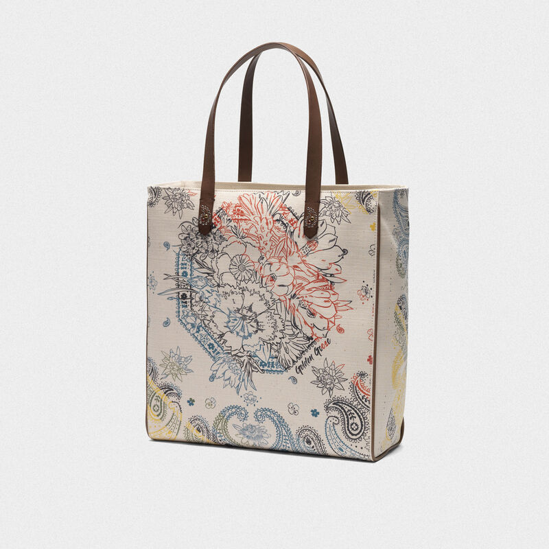 Golden Goose - North-South California Bag with bandana print in  image number null