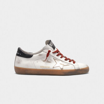 Sneakers Superstar con stella platino foxing in gomma