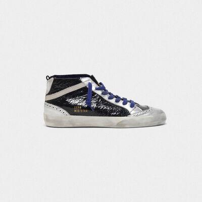 Sneakers Mid-Star in nappa shiny e interno laminato