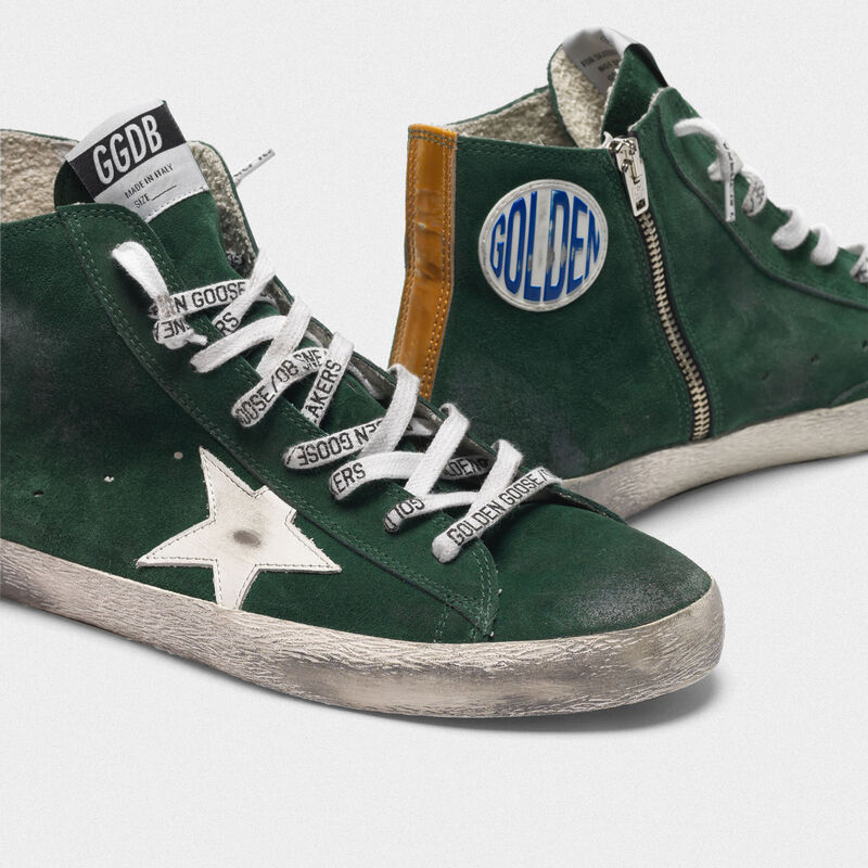 Golden Goose - Francy sneakers in green suede with white star in  image number null