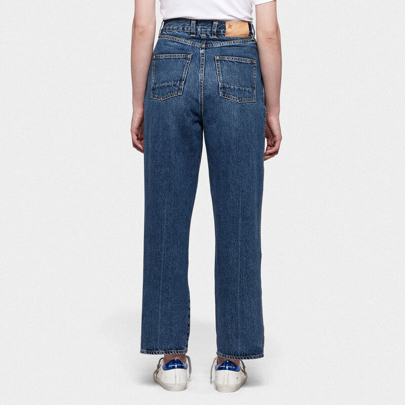 Golden Goose - Kim loose fit jeans in denim with worn look in  image number null