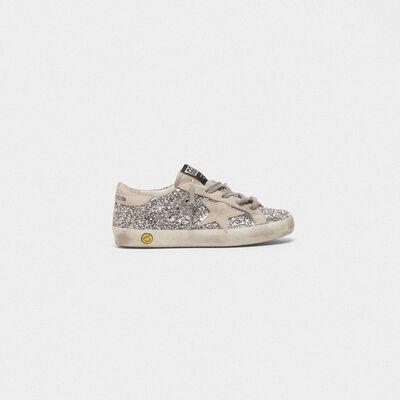 Sneakers Superstar con glitter argentati