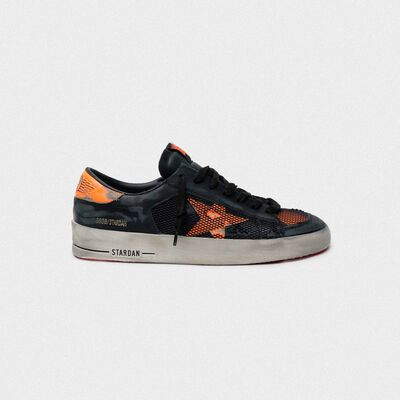Black and orange Stardan sneakers