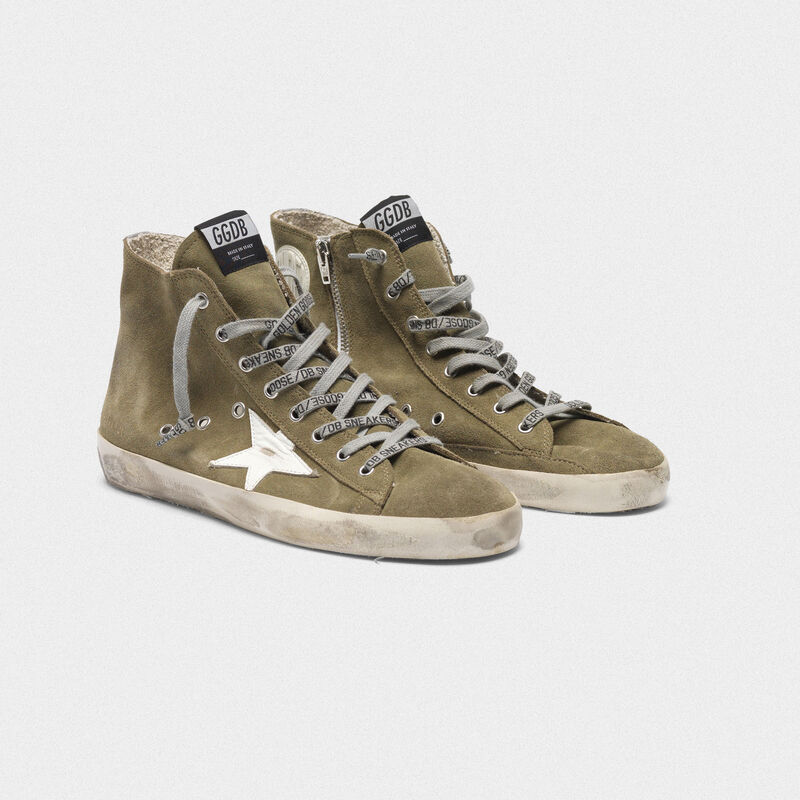 Golden Goose - Sneakers Francy in suede con stella in pelle in  image number null