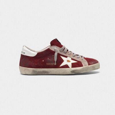 Sneakers Superstar in pelle scamosciata con stella cracklé