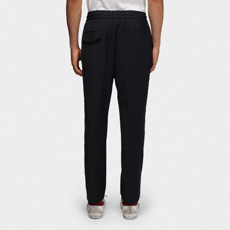 Golden Goose - Black Luke joggers in wool in  image number null