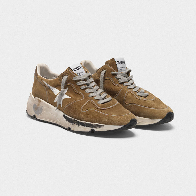Golden Goose - Running Sole sneakers in suede with white star in  image number null