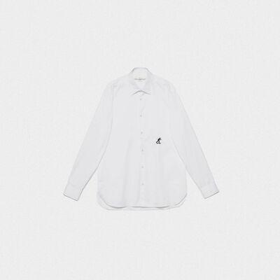 Camicia Satoru in twill di cotone