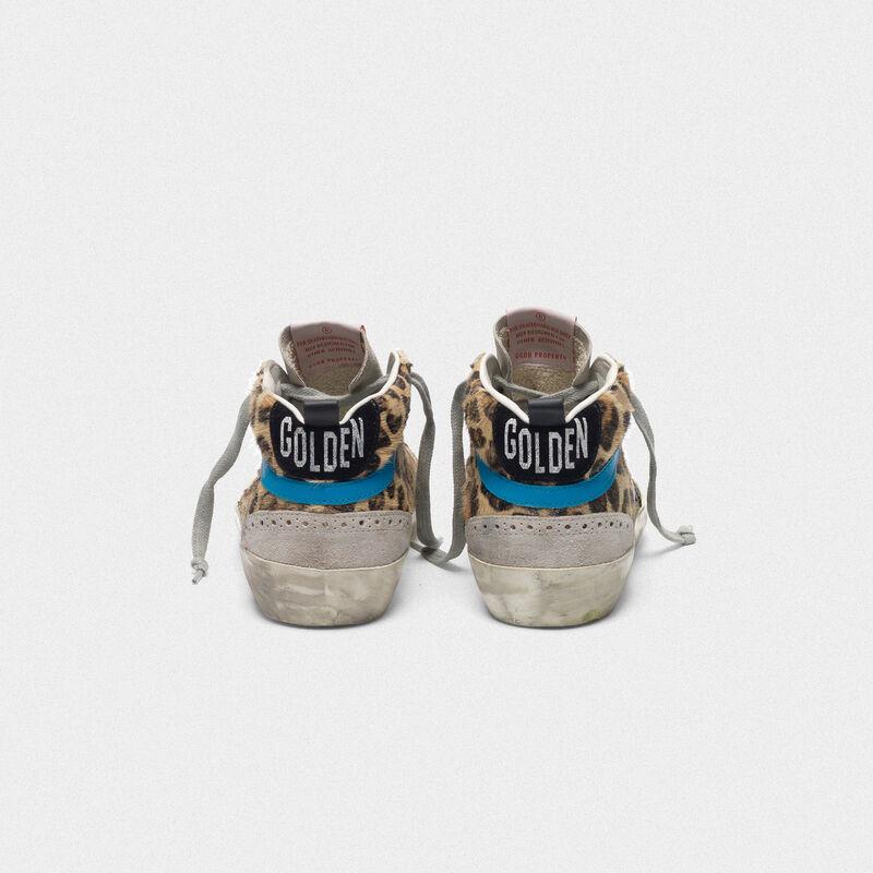 Golden Goose - Sneakers Mid-Star in cavallino stampa leopardata in  image number null
