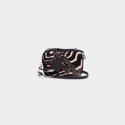 Star Bag made of zebra print pony-effect leather