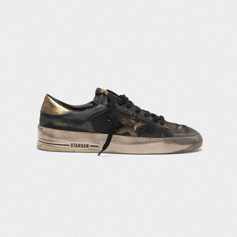 Golden Goose - Stardan LTD sneakers in leather with distressed mesh inserts  in  image number null