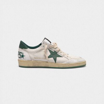 Sneakers Ball Star in pelle  white/green