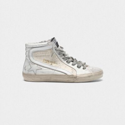 Sneakers Slide bianche patchwork shades