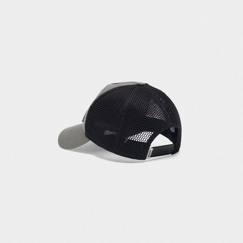 Golden Goose - Golden baseball cap with logo patch in  image number null