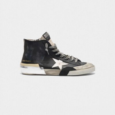 Sneakers Francy nere patchwork multi-foxing