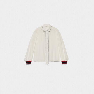 Camisa Isako de seda 100% con detalles en contraste