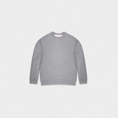 Grey Robbie sweatshirt with Love embroidery