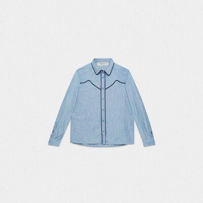 Alexa shirt in cotton denim