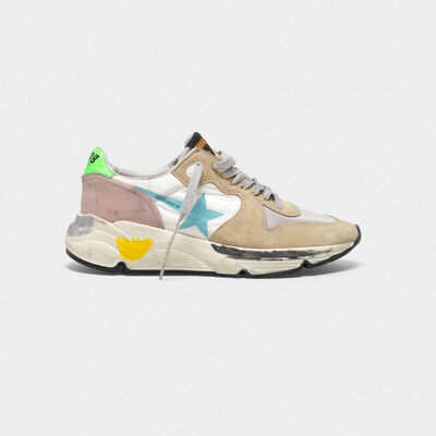 Running Sole sneakers with contrast colours
