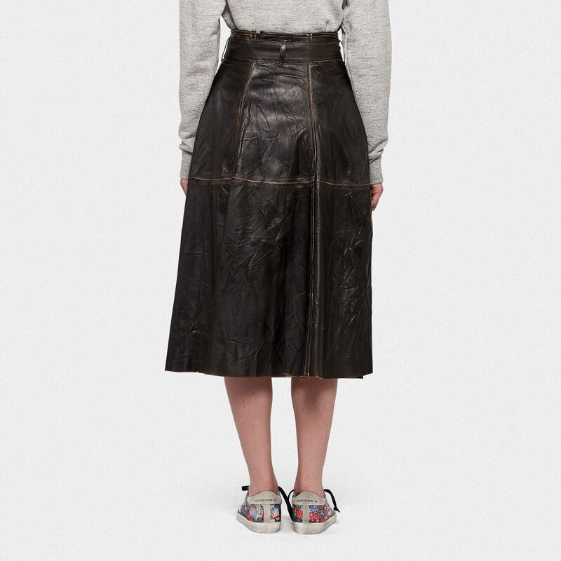 Golden Goose - Akemi leather skirt  in  image number null