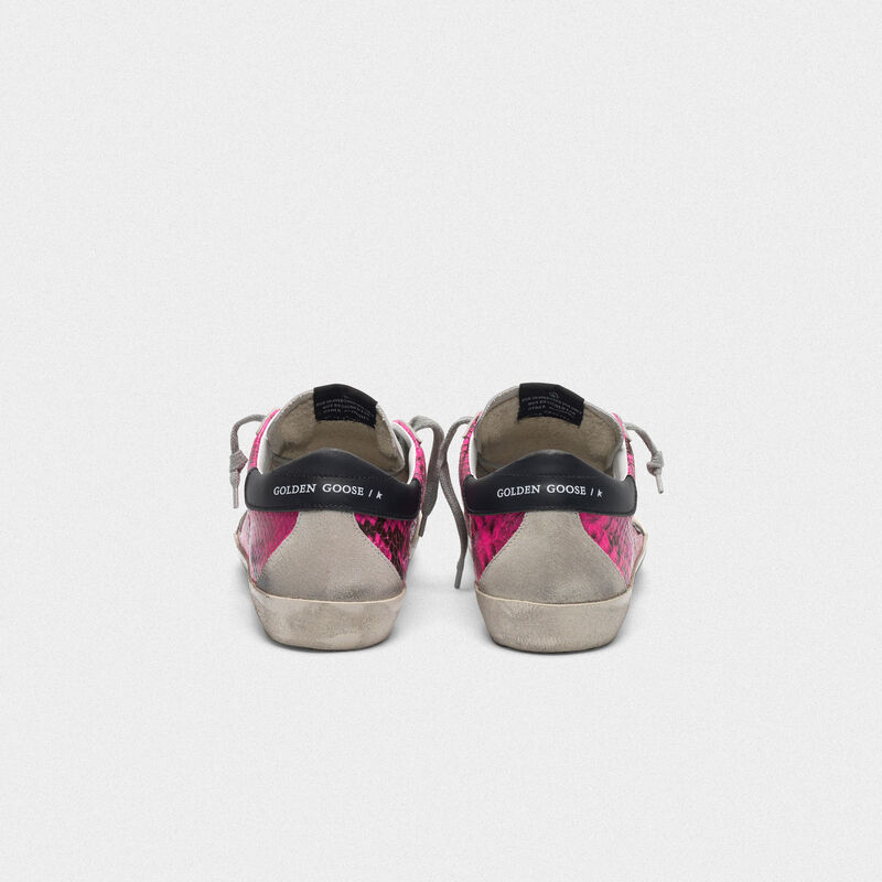 Golden Goose - Sneakers Superstar in pelle fuxia pitonata in  image number null