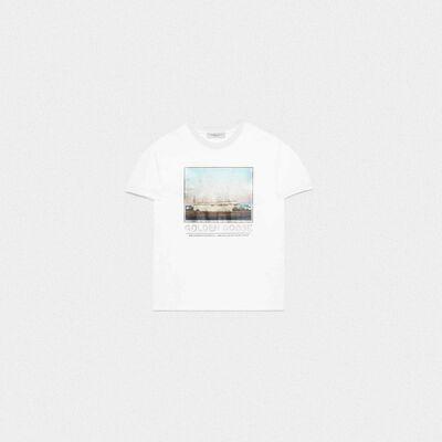 Parker T-shirt with motel photograph print