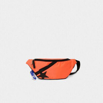 Fluorescent orange nylon Journey belt bag