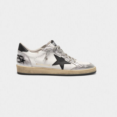Sneakers Ball Star in pelle inserti metallizzati e stella nera