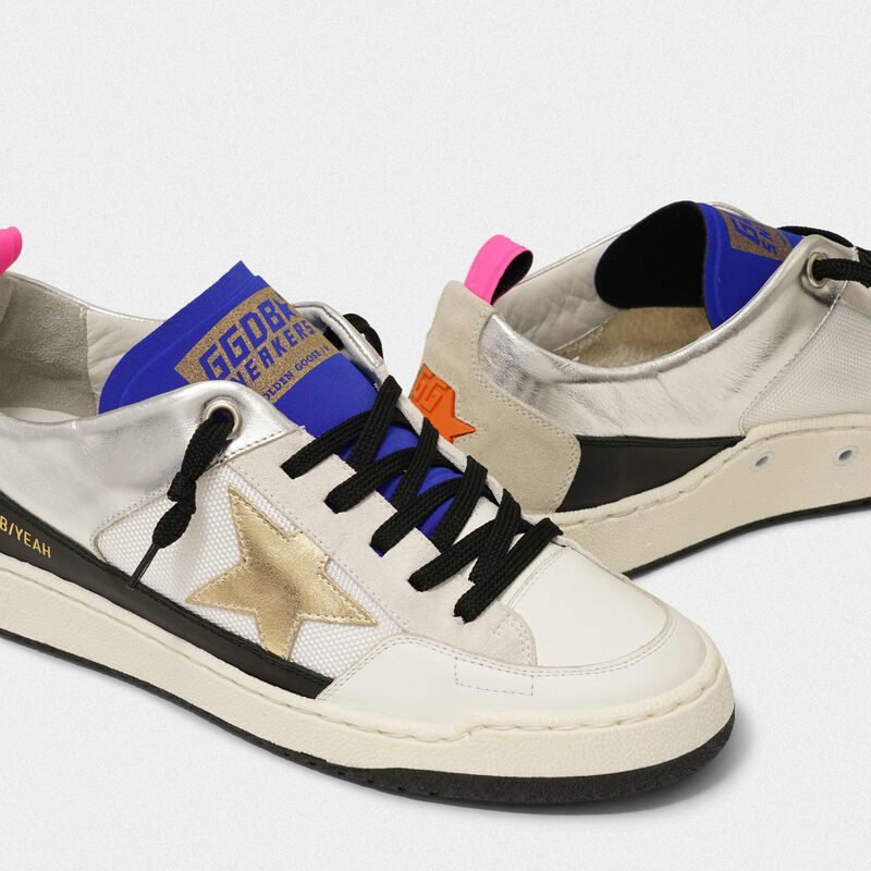 Golden Goose - White Yeah! sneakers with gold star in  image number null