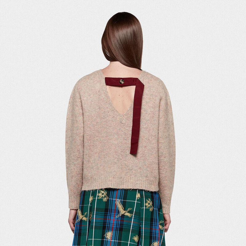 Golden Goose - Yumi crew neck sweatshirt with crane print in  image number null