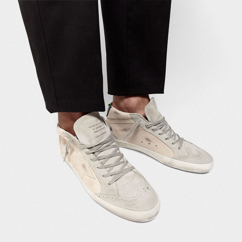 Golden Goose - Sneakers Mid-Star in pelle con dettagli in camoscio in  image number null