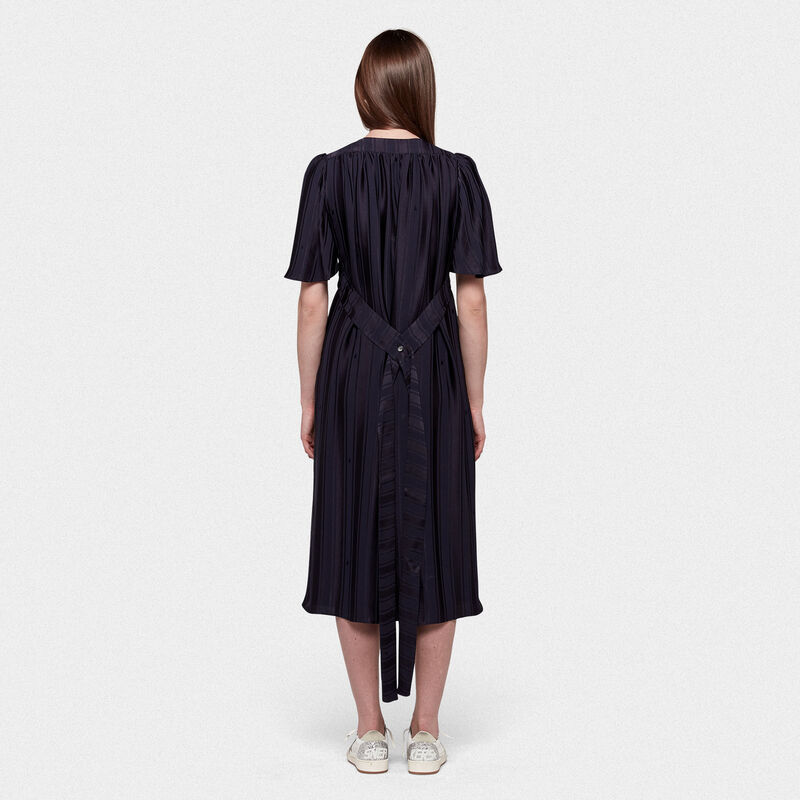 Golden Goose - Hana dress with belt at the waist and ruffles on the back in  image number null