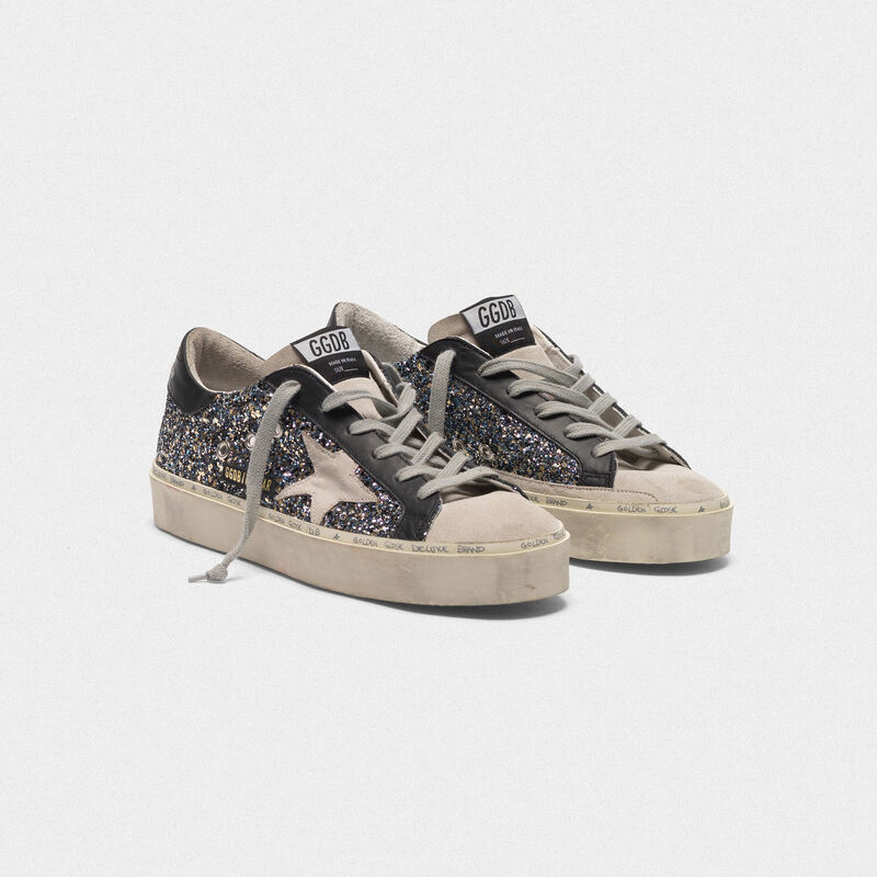 Golden Goose - Hi Star sneakers in glitter and suede leather in  image number null