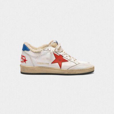 Sneakers Ball Star in pelle con inserto in shearling